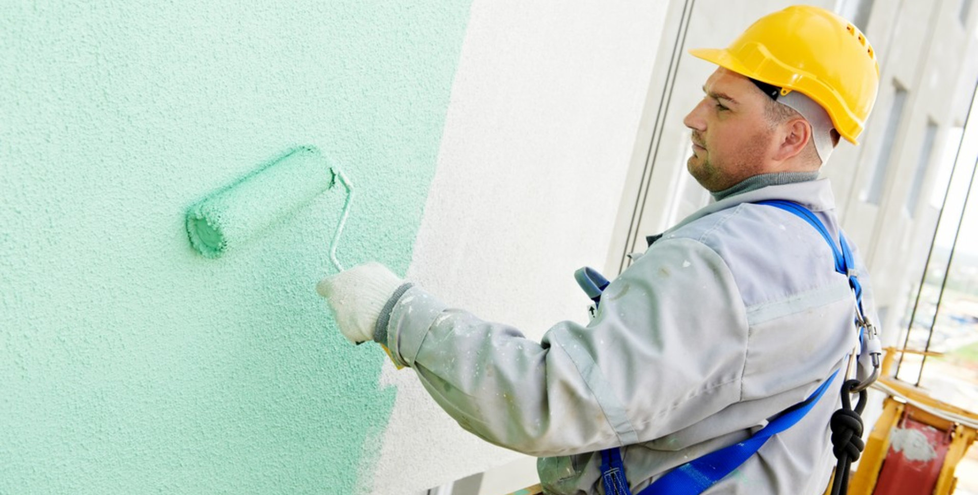 worker painting