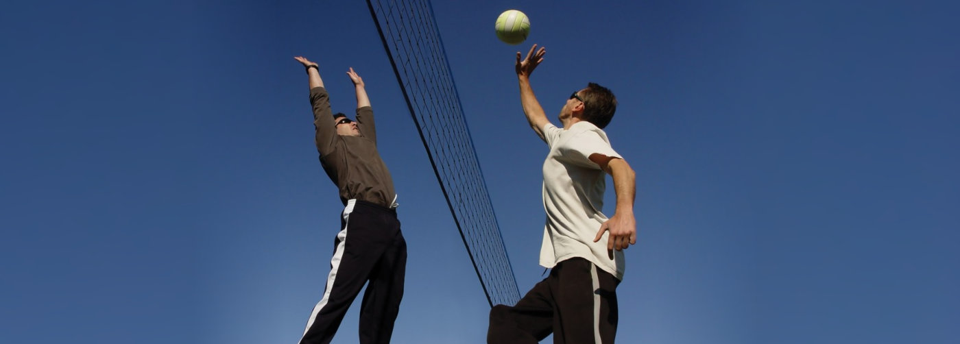 two men playing